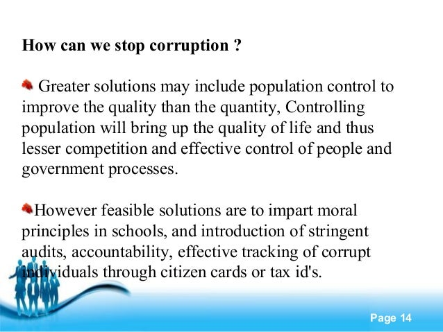 3 key steps to end corruption