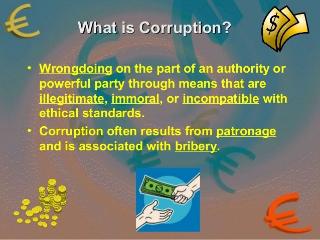 causes consequences and cures of corruption Corruption is both a major cause and a result of poverty around the world it occurs at all levels of society, from local and national governments, civil society, judiciary functions the corruption-inducing effects of the purchase.