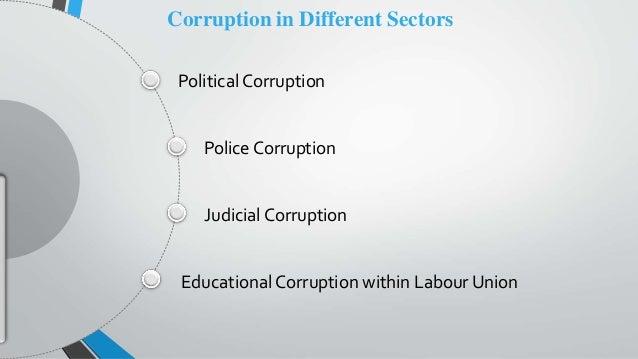 Political Corruption Police Corruption Judicial Corruption Educational Corruption within Labour Union Corruption in Differ...