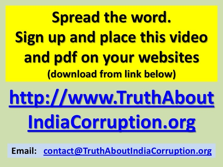 Best essay websites on corruption in india