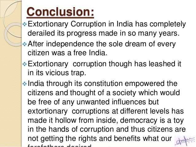 essay on corruption in india | Template