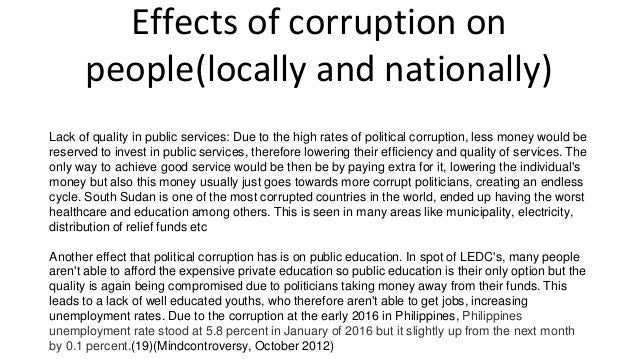 the impact of corruption on the Issn 2039-2117 (online) issn 2039-9340 (print) mediterranean journal of social sciences mcser publishing, rome-italy vol 5 no 6.