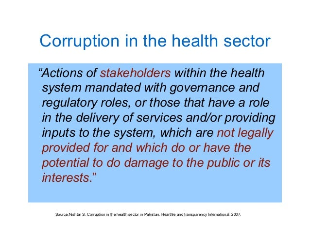 What is public sector corruption?