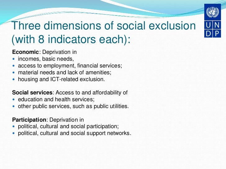 social exclusion deprivation 8 chapter 1: executive summary scotland, since devolution in 1999, has shown a commitment to tackling the problems of social exclusion however, overall, the outcomes have been mixed.