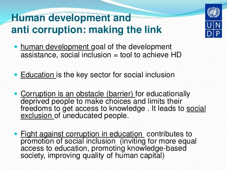 corruption is barrier to development in Preface title of thesis: the impact of corruption on economic growth in lebanon supervisor: a/prof fredoun ahmadi-esfahani corruption is a major barrier to sound development, affecting a.