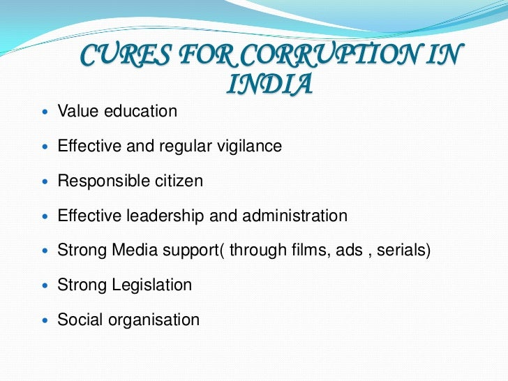 Speech on corruption a menace in india
