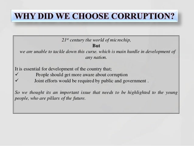corruption plus great governance for pakistan essay