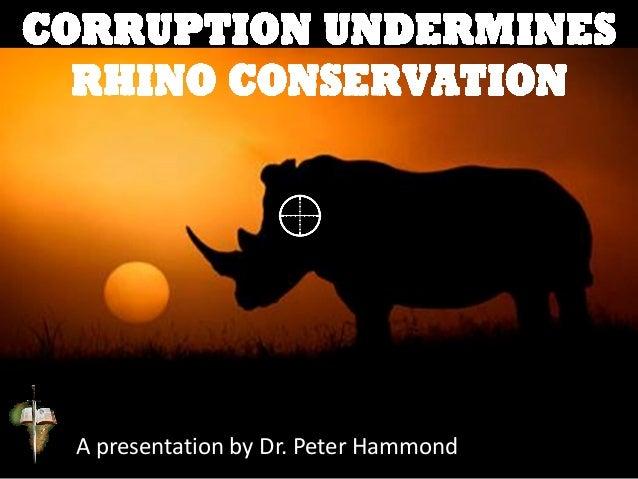 Corruption Undermines Rhino Conservation Slide 3