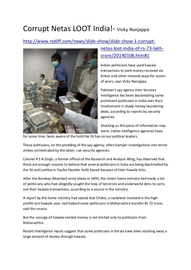 CorruptNetasLOOTIndia!‐VickyNanjappa http://www.rediff.com/news/slide‐show/slide‐show‐1‐corrupt‐ netas‐loot‐india‐of...