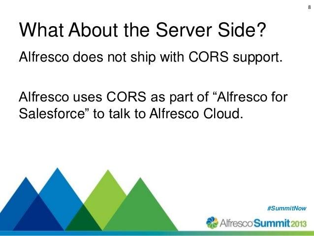 CORS - Enable Alfresco for CORS