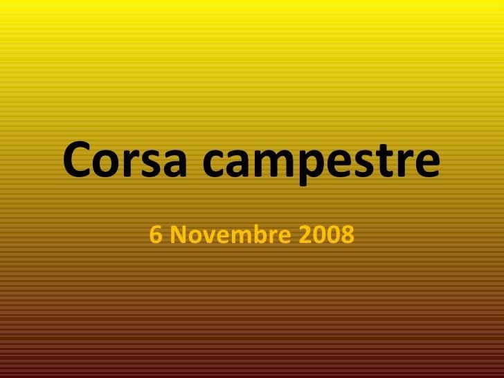 Corsa campestre 6 Novembre 2008