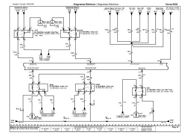 Corsa 2002 diagramas eléctricos