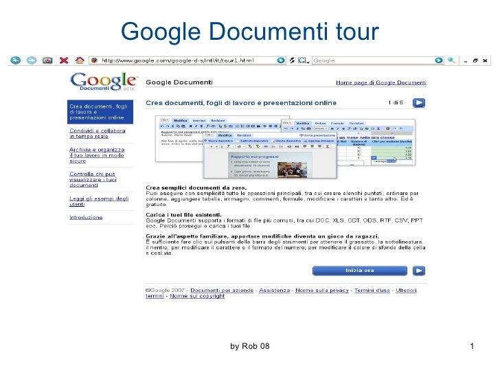 Google Documenti tour