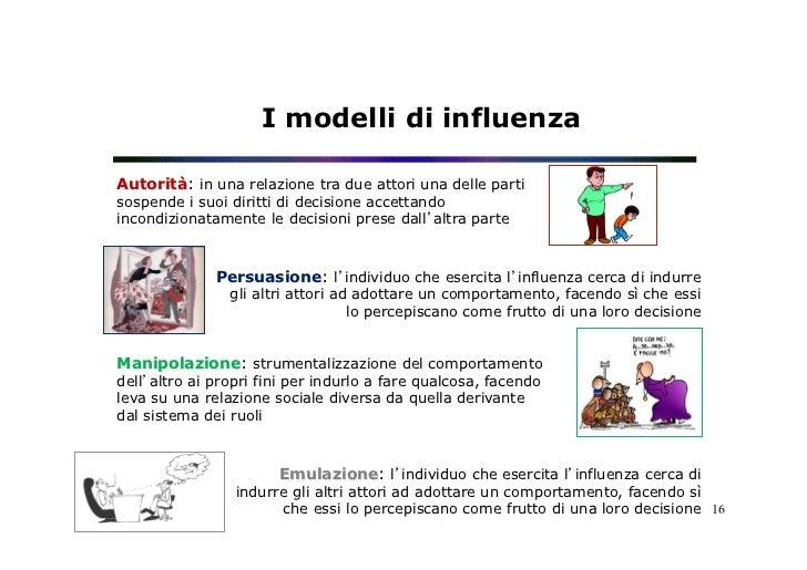 I modelli di influenzaAutorità: in una relazione tra due attori una delle partisospende i suoi diritti di decisione accett...