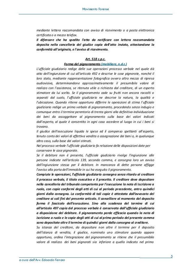 Corso breve sui poteri di autentica degli avvocati - Ufficiale giudiziario pignoramento ...