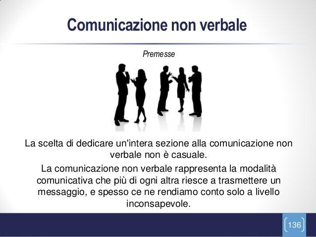 Comunicazione non verbale                           PremesseLa scelta di dedicare unintera sezione alla comunicazione non ...