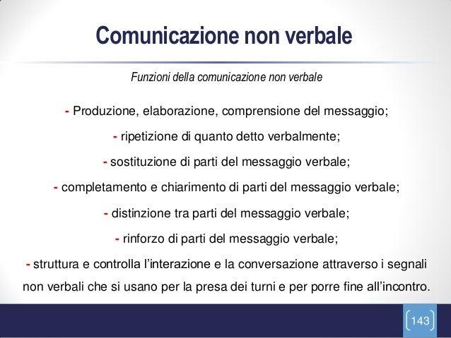 Comunicazione non verbale                    Funzioni della comunicazione non verbale        - Produzione, elaborazione, c...
