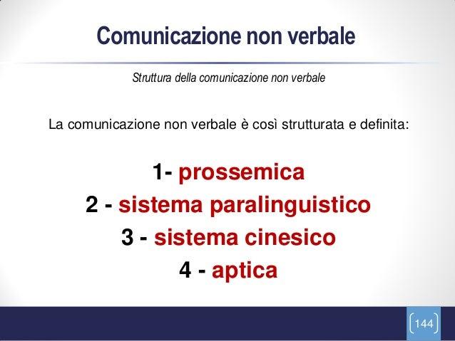 Comunicazione non verbale             Struttura della comunicazione non verbaleLa comunicazione non verbale è così struttu...