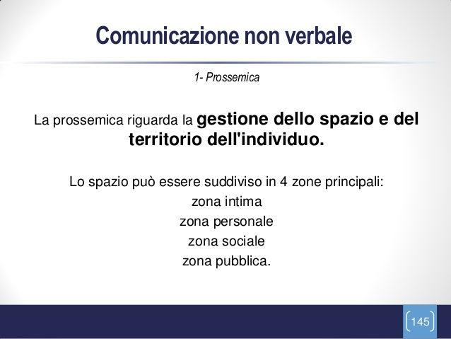 Comunicazione non verbale                         1- ProssemicaLa prossemica riguarda la gestionedello spazio e del       ...