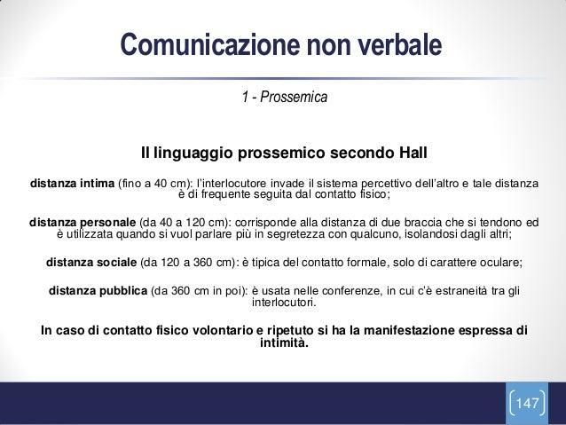 Comunicazione non verbale                                          1 - Prossemica                      Il linguaggio pross...