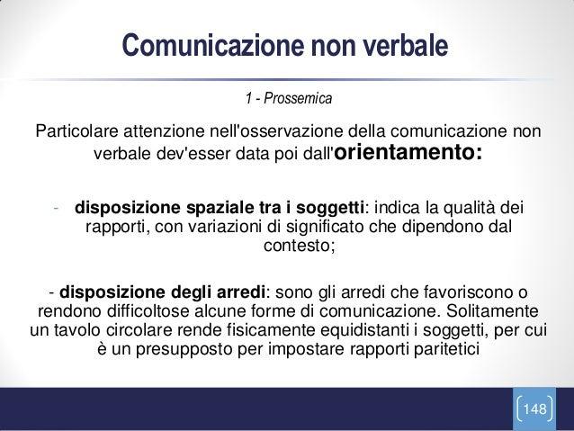 Comunicazione non verbale                             1 - ProssemicaParticolare attenzione nellosservazione della comunica...