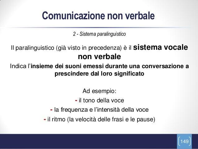 Comunicazione non verbale                        2 - Sistema paralinguisticoIl paralinguistico (già visto in precedenza) è...