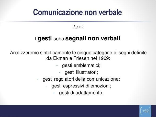 Comunicazione non verbale                              I gesti           I gesti sono segnali         non verbali.Analizze...