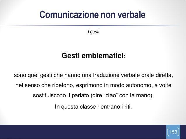 Comunicazione non verbale                              I gesti                   Gesti emblematici:sono quei gesti che han...