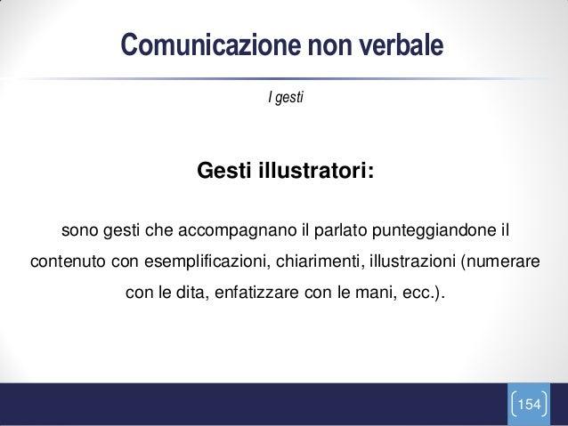 Comunicazione non verbale                               I gesti                      Gesti illustratori:    sono gesti che...