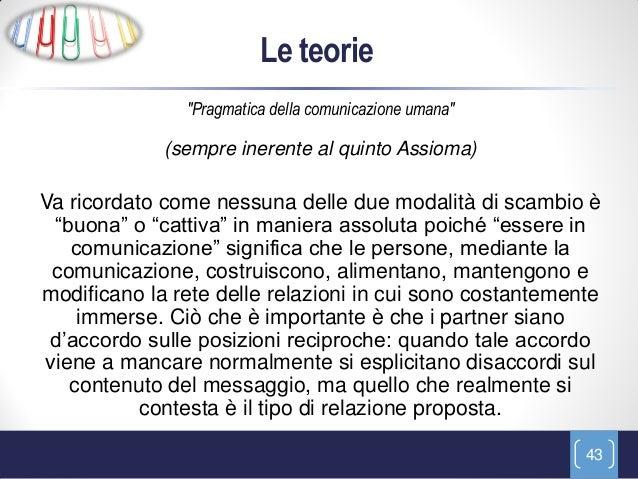 """Le teorie               """"Pragmatica della comunicazione umana""""             (sempre inerente al quinto Assioma)Va ricordato..."""