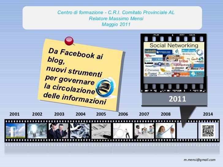 2014 2008 2007 2006 2004 2003 2002 2005 2011 Da Facebook ai blog,  nuovi strumenti per governare la circolazione delle inf...