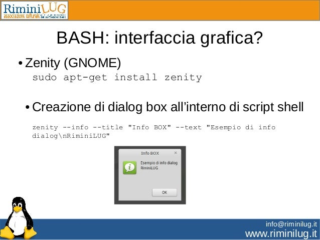 bash how to use zenity dialog box