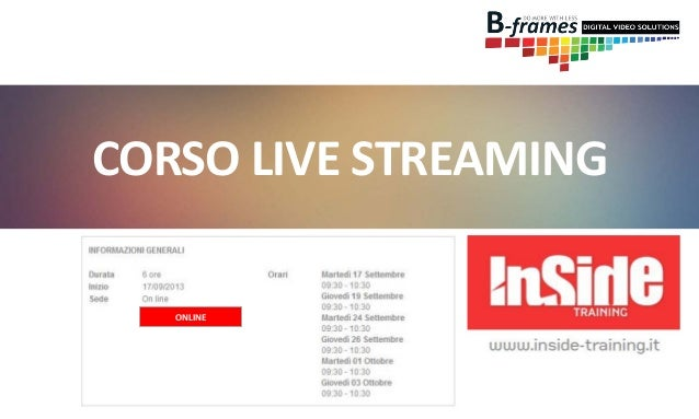 CORSO LIVE STREAMING ONLINE