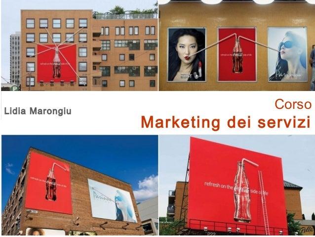 CorsoMarketing dei serviziLidia Marongiu