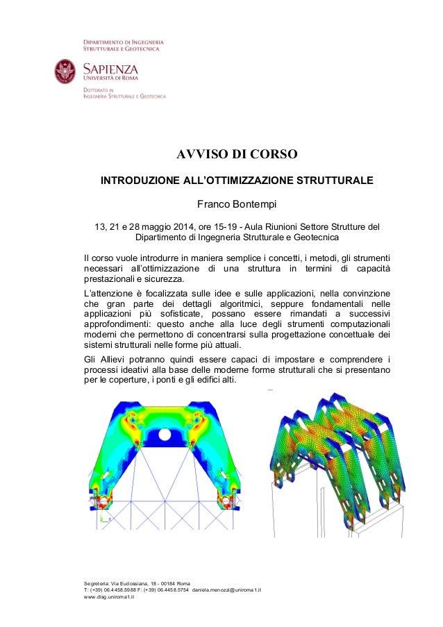 Segreteria: Via Eudossiana, 18 - 00184 Roma T: (+39) 06.4458.5988 F: (+39) 06.4458.5754 daniela.menozzi@uniroma1.it www.di...