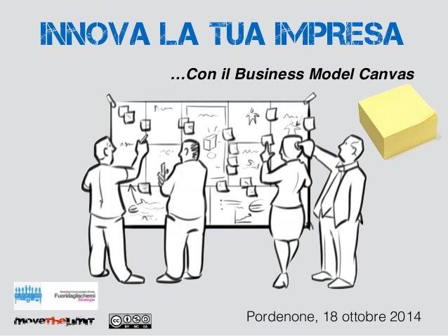 INNOVA LA TUA IMPRESA  …Con il Business Model Canvas  movethelimit Pordenone, 18 ottobre 2014
