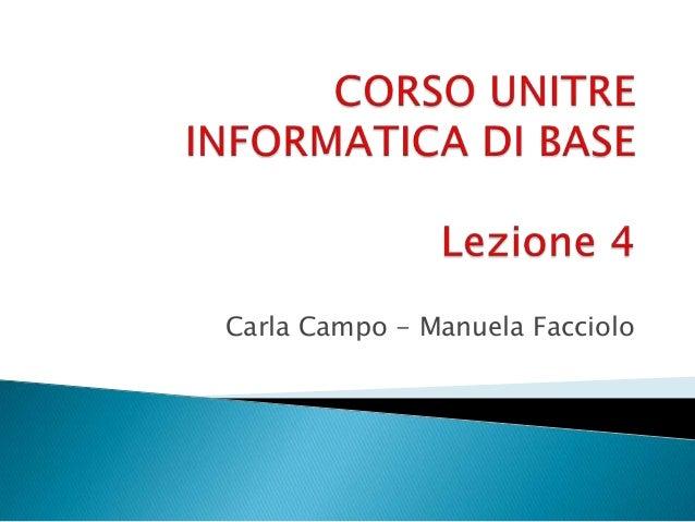 Carla Campo - Manuela Facciolo