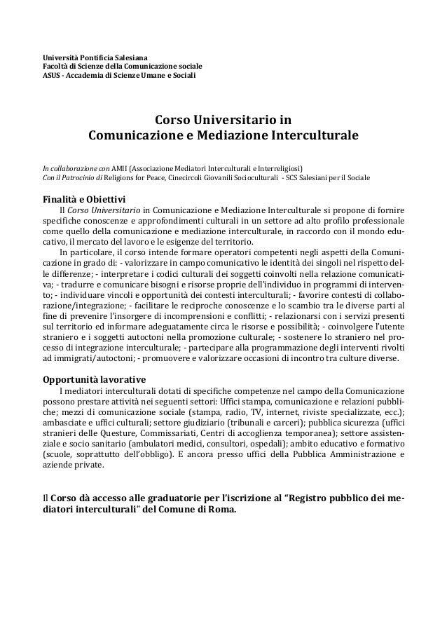 Università Pontificia SalesianaFacoltà di Scienze della Comunicazione socialeASUS - Accademia di Scienze Umane e Sociali  ...