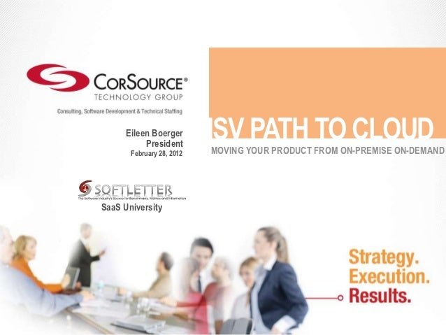 Eileen Boerger           President                           ISV PATH TO CLOUD                           MOVING YOUR PRODU...