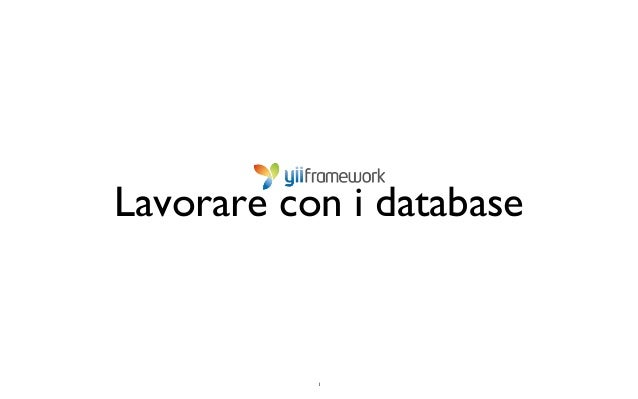 1 Lavorare con i database