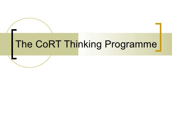 The CoRT thinking programme