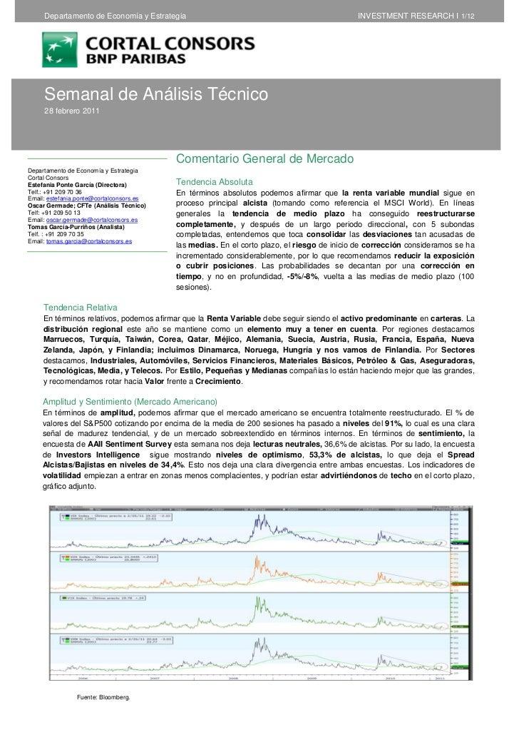 Departamento de Economía y Estrategia                                                  INVESTMENT RESEARCH I 1/12     Sema...
