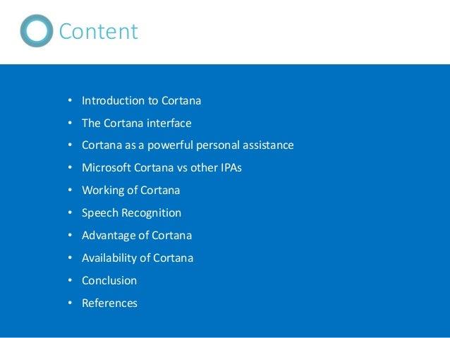Cortana : A Microsoft Virtual Personal Assistant Slide 2