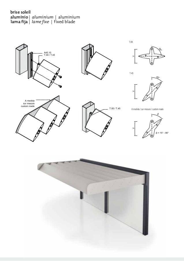 Catálogo de cortasoles discontinuos de aluminio Tamiluz Slide 2