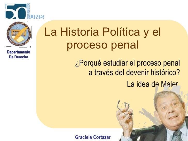La Historia Política y el proceso penal ¿Porqué estudiar el proceso penal a través del devenir histórico? La idea de Maier...