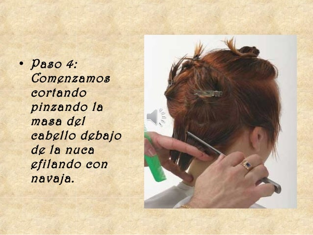 Tecnicas de corte de cabello con navaja