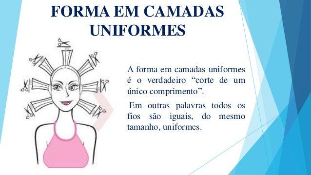 """FORMA EM CAMADAS UNIFORMES A forma em camadas uniformes é o verdadeiro """"corte de um único comprimento"""". Em outras palavras..."""