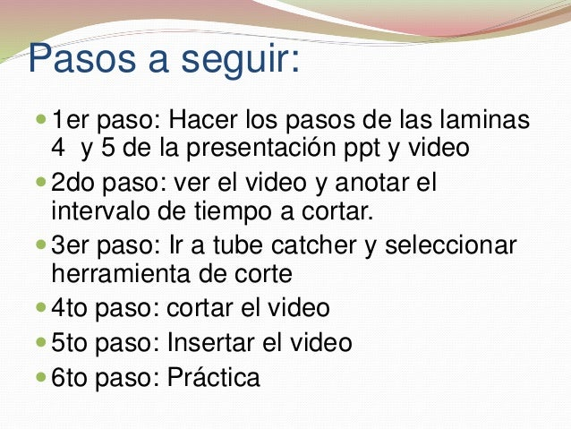 Corte de video Slide 3