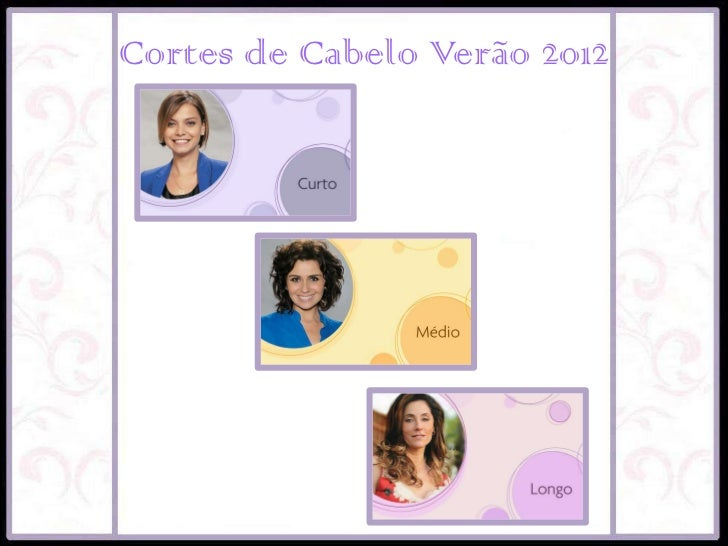 Cortes de Cabelo Verão 2012