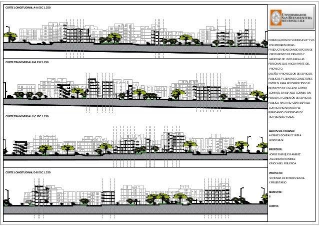 Cortes urbanos for Arquitectura nota de corte